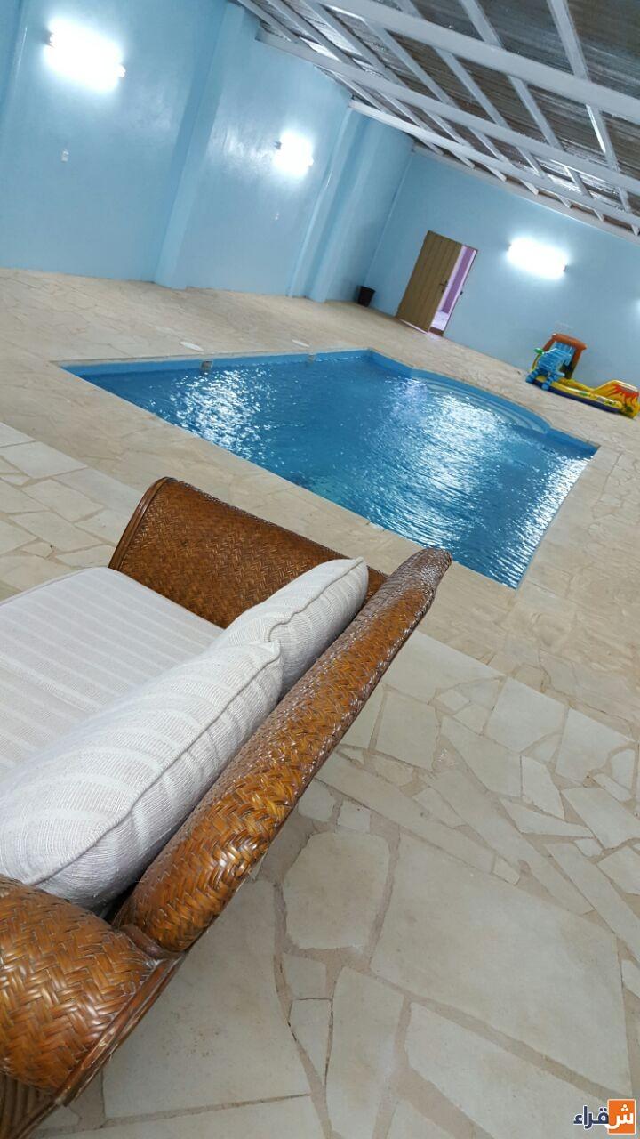 استراحة الوسام بـ شقراء للإيجار اليومي مجالس غرف مسطحات خضراء مسبح