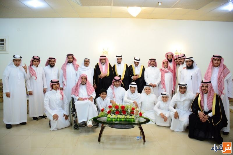 الشاب/صالح أباحسين يحتفل بزواجه من كريمة فهد السكران