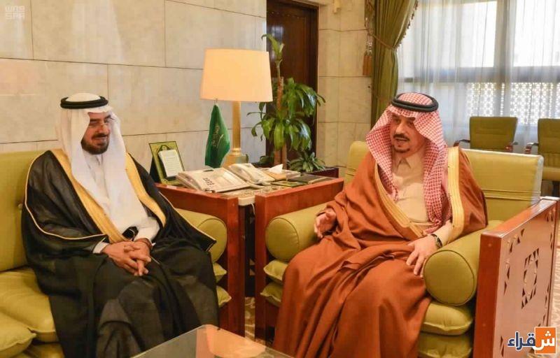الأمير فيصل بن بندر يستقبل مدير جامعة شقراء