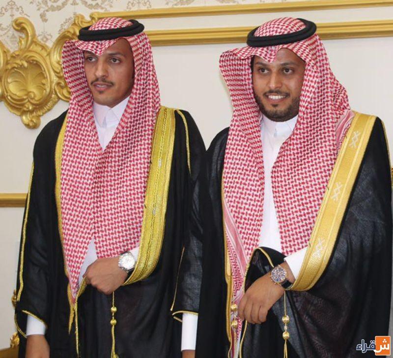 الشابين مساعد وناصر الجوفان يحتفلون بزواجهما