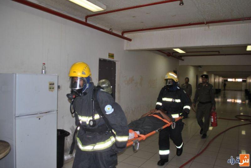 حريق وهمي في سجن شقراء يسفر عن تحقيق الهدف من الفرضية بسرعة التعامل مع الحادث