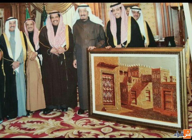 """الفنان التشكيلي """"أباحسين"""" : الملك سلمان أول داعم لأعمالي .. وأستاذي بالابتدائية هو من طور مهاراتي"""