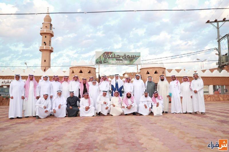وفد جمعية التراث العمراني الإمارتي يزور القرية التراثية بشقراء ويطلع على أعمال لجنة الحرف والتراث