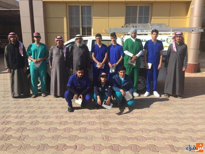 طلاب كلية العلوم الطبية التطبيقية بشقراء يزورون الجمعية الخيرية بشقراء