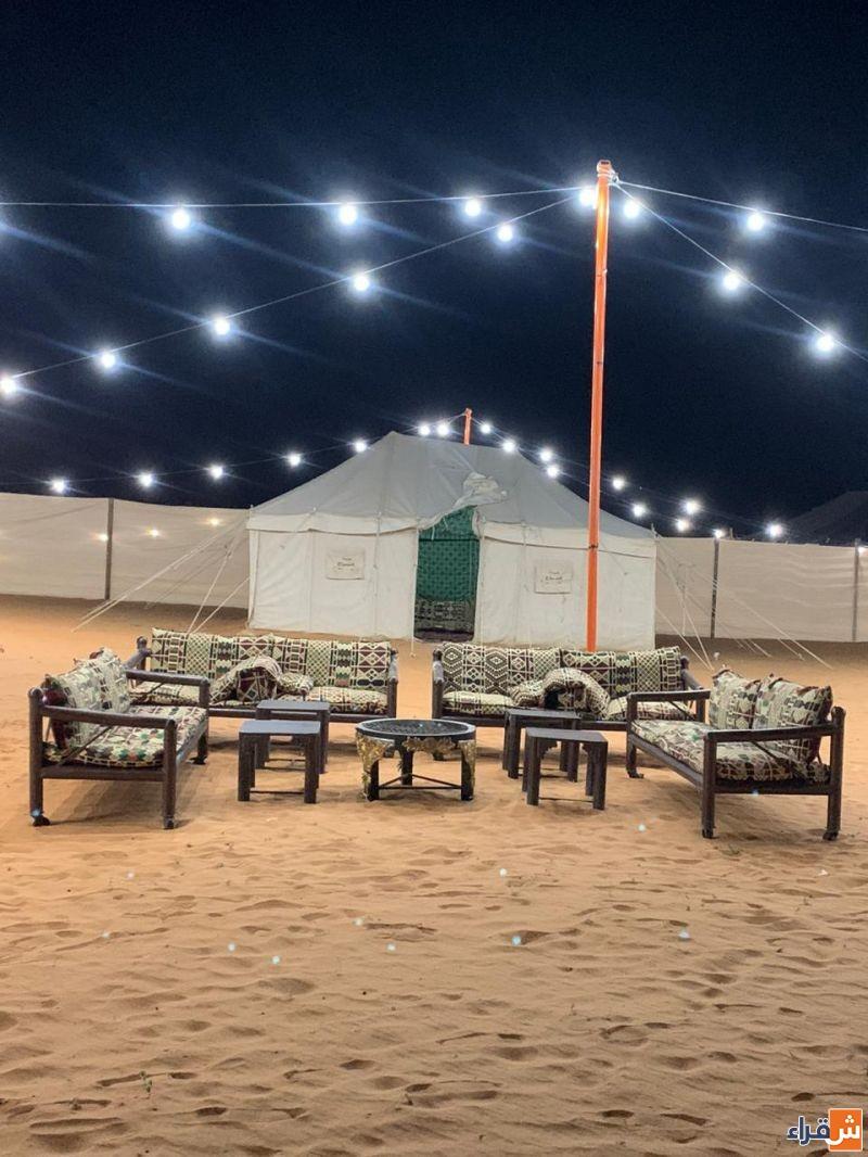 مخيم شتاء شقراء للايجار اليومي في النفود - طريق الحماده