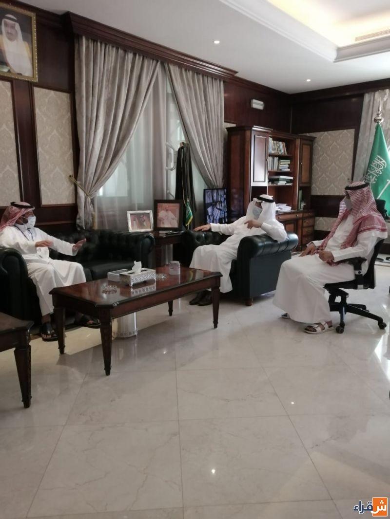 محافظ شقراء يستقبل مدير فرع شركة الاتصالات السعودية بالمحافظة