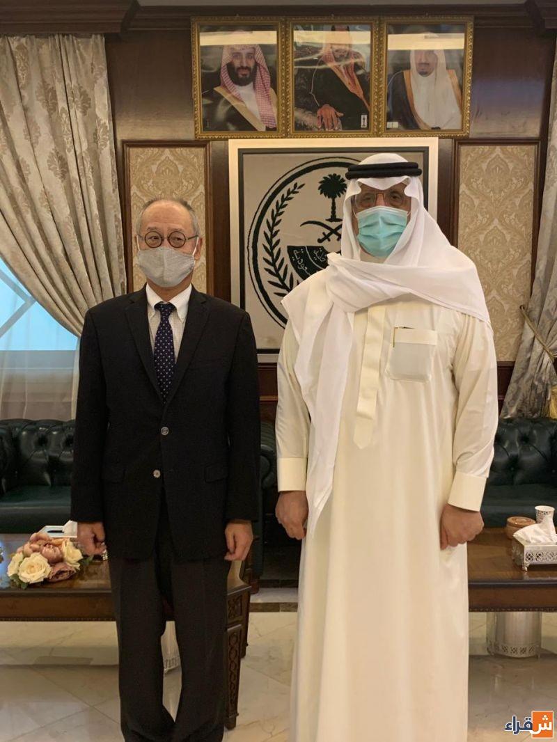 محافظ شقراء يستقبل السفير الياباني لدى المملكة 