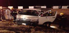 حادث مايكرو باص يصيب 11 عاملا في تقاطع الحمادة