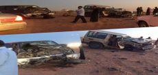 حادث وجه لوجه في نفود القاع بثرمداء والمواطنون ينقلون المصابين