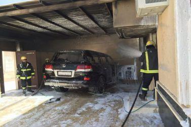 مدني شقراء يخمد حريقا في سيارة مواطن داخل فناء منزله ولا إصابات