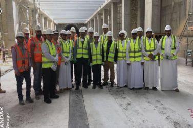وفد من ارامكو السعودية يزور مشروع قطار الرياض
