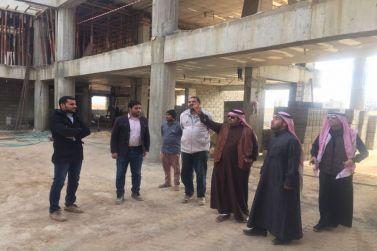 مدير تعليم شقراء ومدير المباني يتفقدون مباني التعليم التي تحت الإنشاء