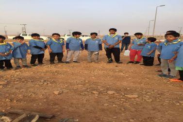 اقام نادي الحي بثانوية الملك عبدالله بشقراء برنامج عن أنواع النيران الكشفية