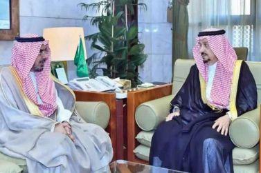 صاحب السمو الملكي الأمير فيصل بن بندر بن عبد العزيز أمير منطقة الرياض يستقبل مدير جامعة شقراء