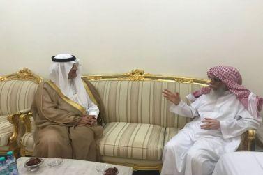 محافظ شقراء يزور رئيس المحكمة الشيخ حمود المسعر وفضلة الشيخ منصور الجوفان