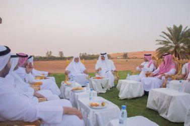 محافظ شقراء يزور المربي الفاضل الشيخ محمد الحسين في مزرعته الرحمانية