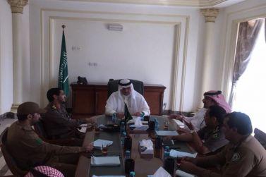 محافظ شقراء يترأس اجتماعًا للجهات الأمنية
