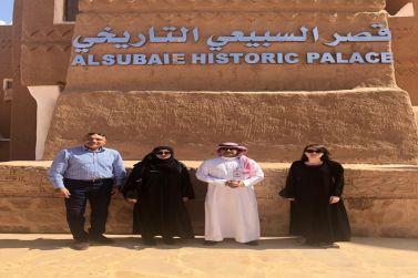 السيدة أني دونالي مستشارة السفير البريطاني تزور الأماكن التاريخية بشقراء