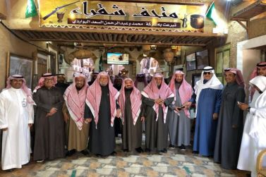 معالي الشيخ عبدالله بن منيع يستضيف عددًا من أصحاب المعالي أعضاء هيئة كبار العلماء في زيارة للقرية التاريخية بمحافظة شقراء