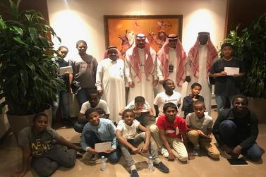 أبناء دار التربية الاجتماعة بشقراء في زيارة مركز الملك فيصل للبحوث والدراسات الإسلامية