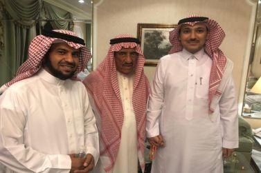 رئيس جمعية شقراء للتنمية والتطوير  الشيخ حمد الجميح يستقبل رئيس بلدية شقراء