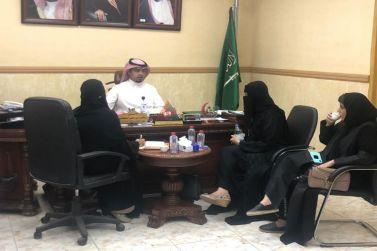 مدير مستشفى شقراء يستقبل مساعد المدير العام للصحة العامة بصحة الرياض الدكتورة/ أميرة الرصيّص