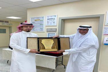 مدير مستشفى شقراء يكرم منسوبي المركز الصحي الثاني بمناسبة حصوله على شهادة الاعتماد من المركز السعودي CBAHI
