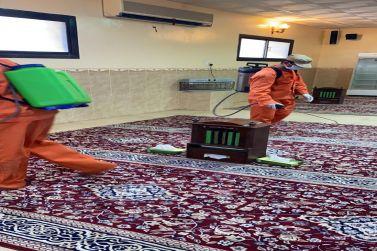 مكتب الاشراف على المساجد والدعوة والإرشاد بالقصب ينهي عملية تنظيف وتعقيم المساجد