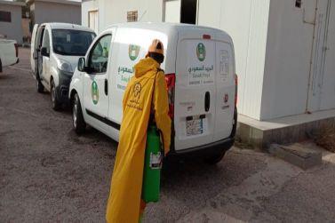 ادارة بريد واصل بمحافظة شقراء يقوم بتعقيم المكاتب والآليات إحترازًا من فايروس كورونا