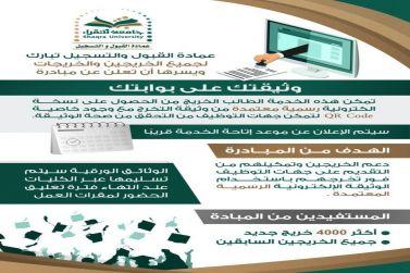 لأول مرة من نوعها في المؤسسات التعليمية  جامعة شقراء تطلق مبادرة وثيقتك على بوابتك