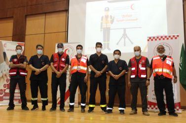 هيئة الهلال الأحمر السعودي بمحافظه شقراء تقيم دورة اعداد مدرب برنامج الامير نايف بوحدة التدريب ولمدة٣ ايام