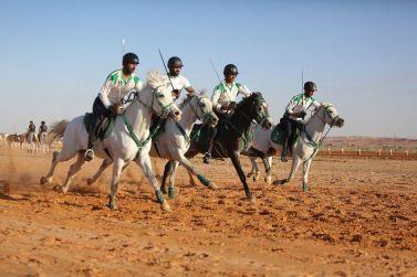 بطولة كأس الاتحاد السعودي للفروسية في التقاط الأوتاد،