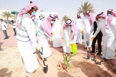 """رئيس جامعة شقراء يطلق حملة """"جامعتنا الخضراء"""" في مستهل فعاليات أسبوع البيئة"""