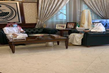 محافظ شقراء يستقبل مدير بنك التنمية الاجتماعية بمحافظة المجمعة .