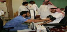 مدير جامعة شقراء يدشن حملة التبرع بالدم ويفتتح المعرض المصاحب