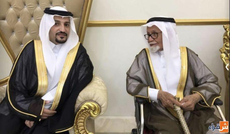 جد العريس الشيخ محمد الخريجي والعريس معاذ